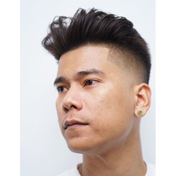 Smooth Faded Undercut with Textured Top Hairstyles for Asian Men