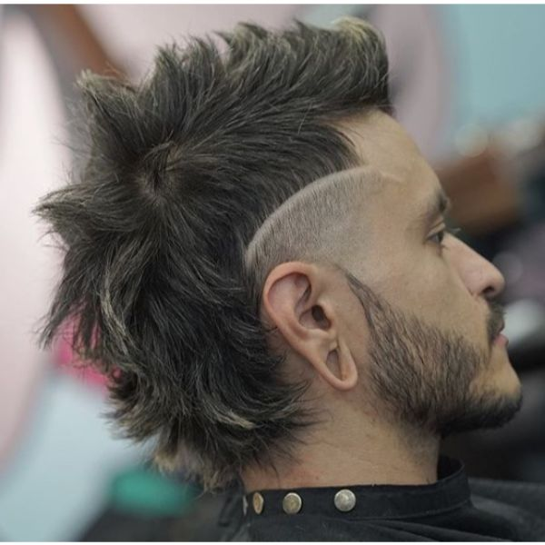 Spiky Mullet Short Sides Long Top Hairstyles