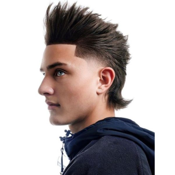 Spiky Mullet With Short Sides Long Top Hairstyles