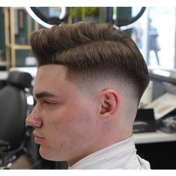 Taper Drop Fade with Side Part