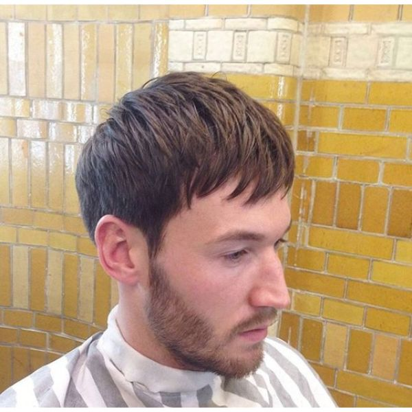 Taper Fade Haircut with Side Fringe