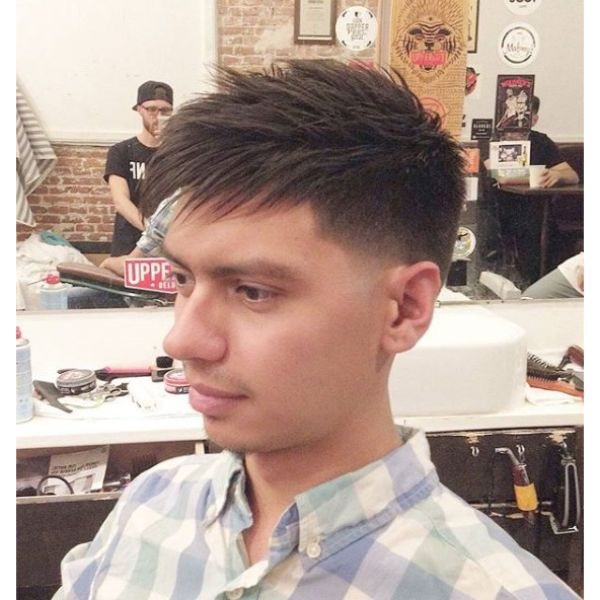 Taper Fade with Fringe