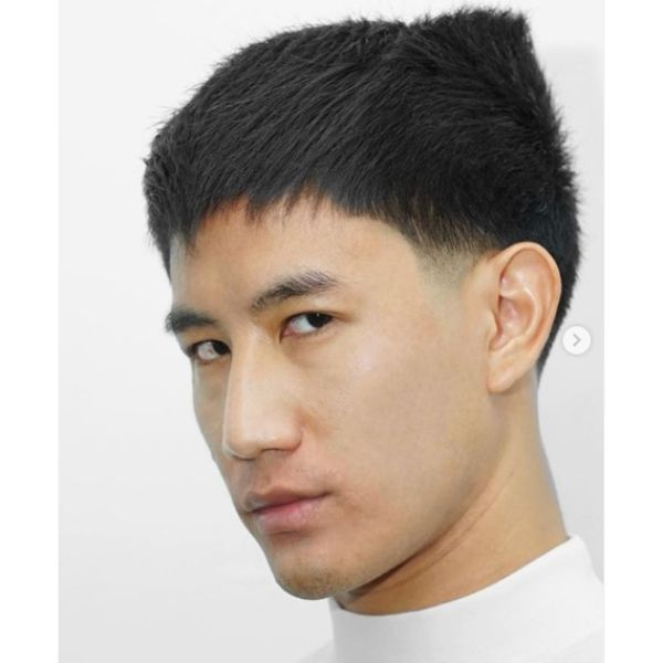 Taper Fade with Wolverine Top Hairstyles for Asian Men