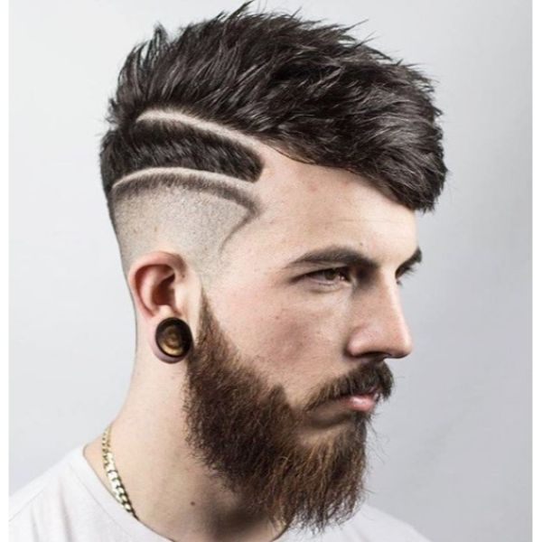 Textured Crop Skin Fade with Double Razored Edge Hairstyles
