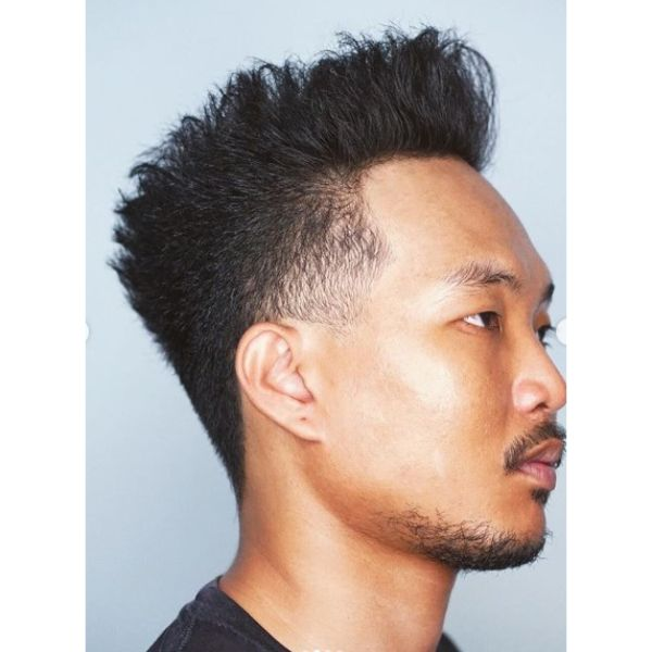 Textured Hi-top Hairstyles for Asian Men
