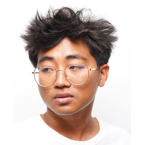 Tousled Top Crop Cut Hairstyles for Asian Men