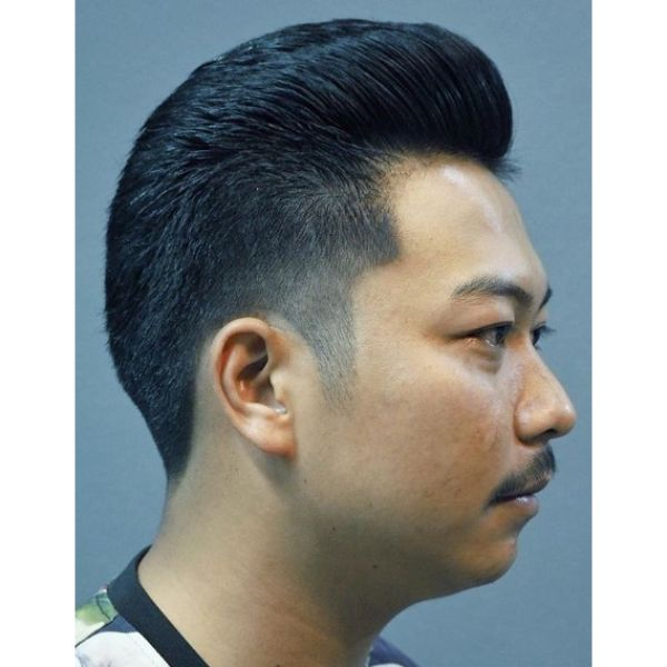 Traditional Pompadour Hairstyle