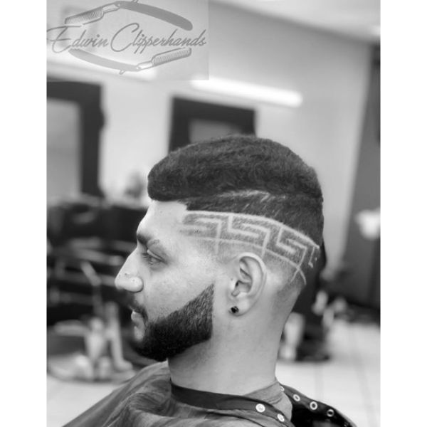 Versace Design Short on Sides Long On Top Hairstyles