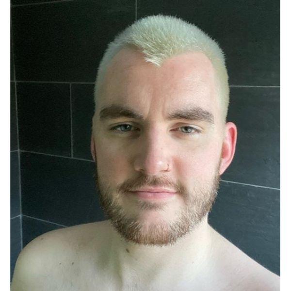 Bleach Blonde Buzz Cut