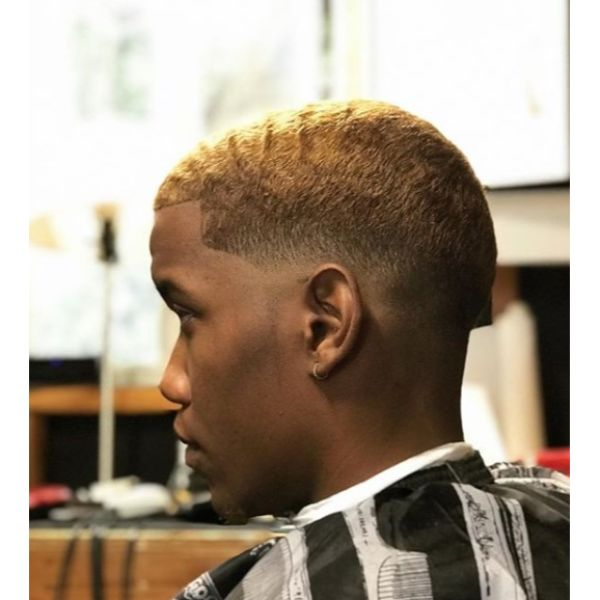 Blonde Low Fade Buzz Cut