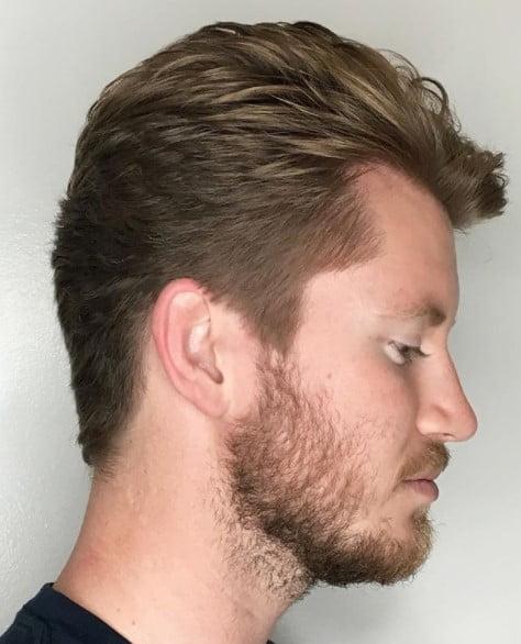 Blonde medium length hairstyles for men