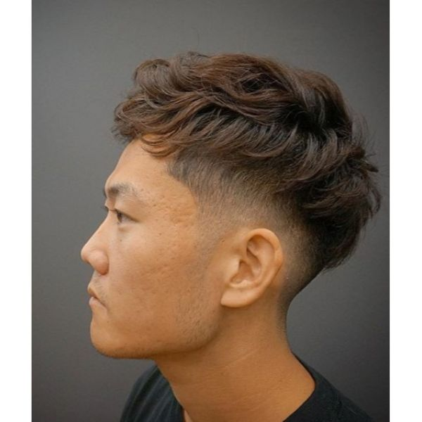 Bowl-cut with Messy Cropped Top