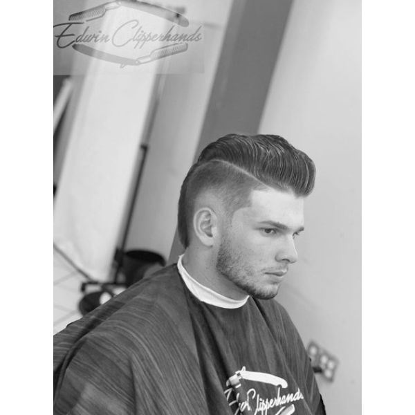 Burst Fade Undercut with Smooth Wavy Top