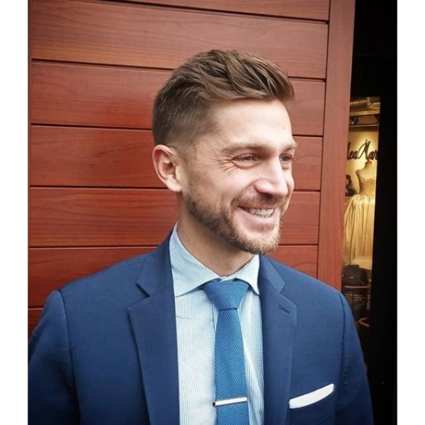 Business Textured Undercut Hairstyles For Men