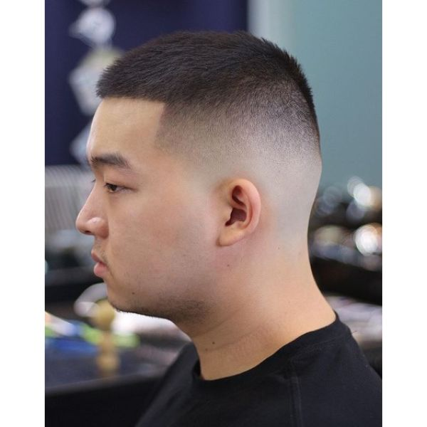 Buzz Cut Hairstyle for Asian Men