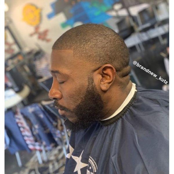 Buzz Cut with Contoured Beard