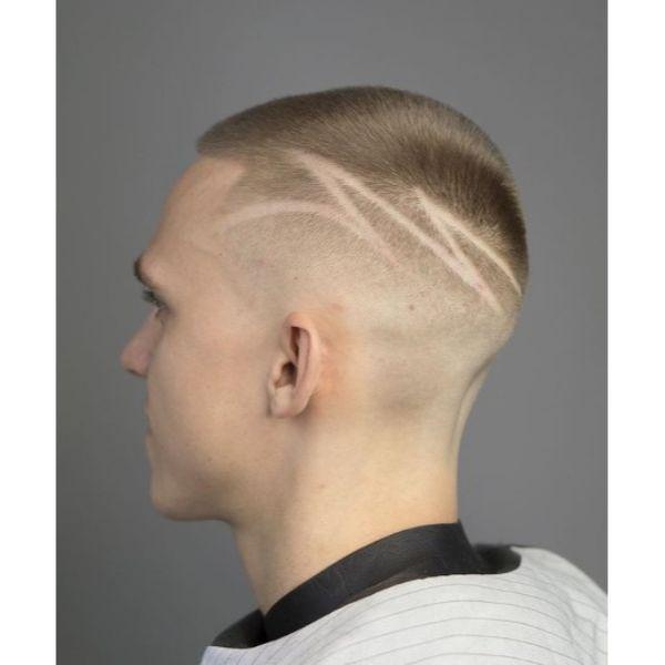 Buzz Cut with Hair Tattoo