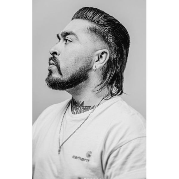 Chicano Style Undercut with Sleek Top Hairstyles For Men