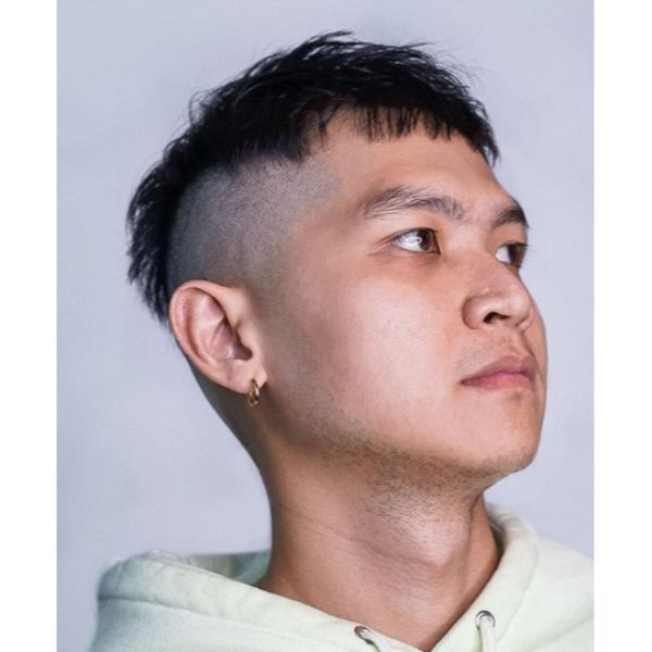 Choppy Undercut with High Fade Hairstyles For Men