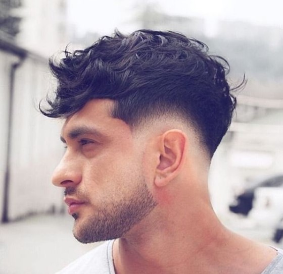 Chunky Messy Top with Low Fade