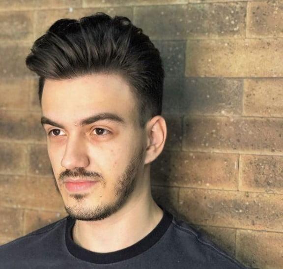 Classic Pompadour medium length hairstyles for men