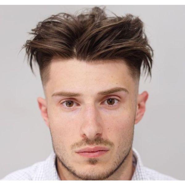 Classy Medium Long Undercut Hairstyle Fro Men