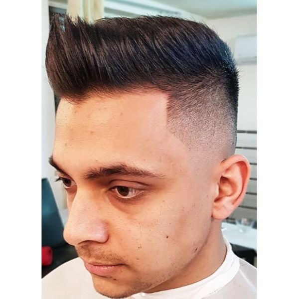 Clean High Fade with Pompadour Top Short Haircuts For Men