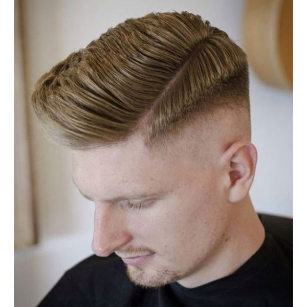Clean Undercut with Soft Side Part Hairstyle For Men
