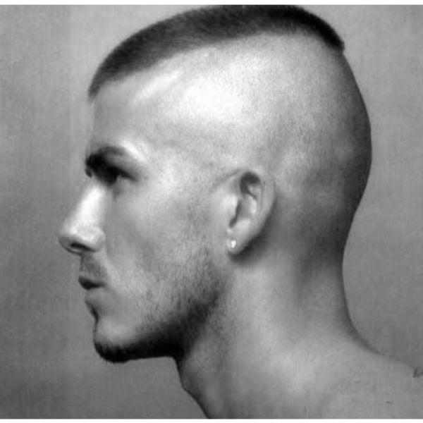 David Beckam's Faux Hawk Buzz Cut
