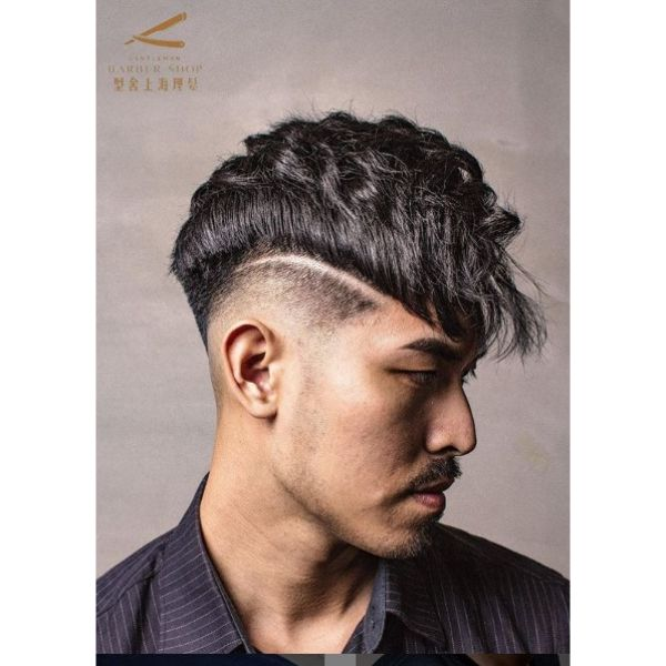 Disconnected Undercut with Combed Forward Top