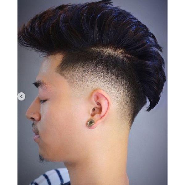 Faux Hawk Undercut Hairstyle For Men