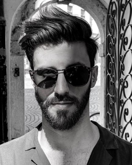 Flow medium length hairstyles for men with Side Swept