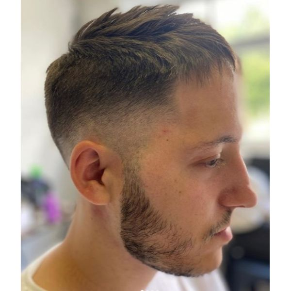 French Crop Fade with Messy Top