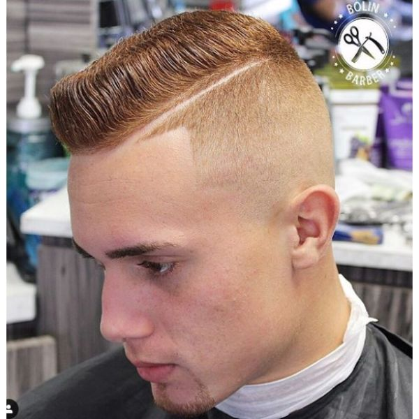 Ginger Flattop with Hard Part