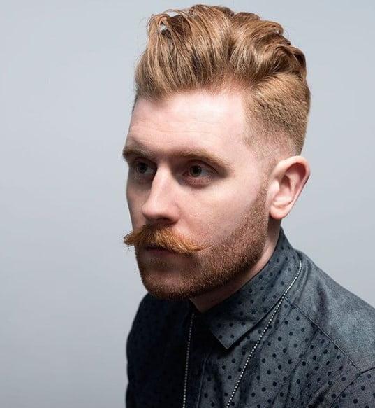 Ginger Swept-back Chunky medium length hairstyles for men