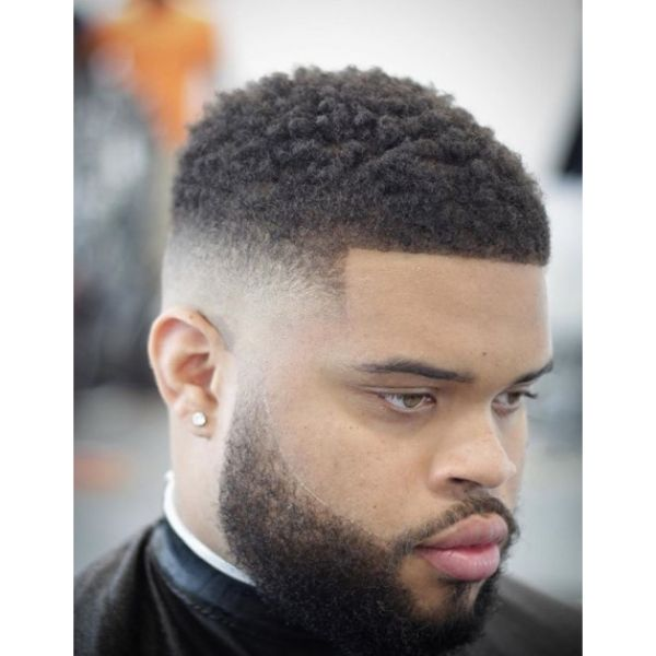 High Fade with Curly Top Short Haircuts For Men