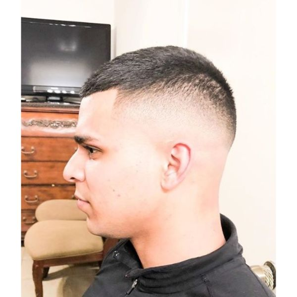 High Fade with Long Taper Top