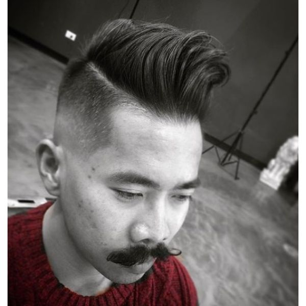 High Fade with Retro Undercut Hairstyles For Men