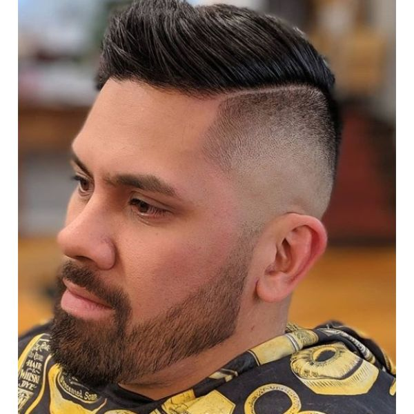 High Zero Fade with Combover Short Haircuts For Men