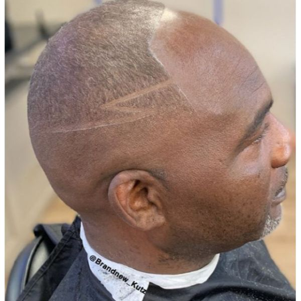 High and Tight Buzz Cut with Razor Design