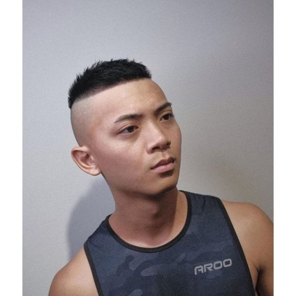 High and Tight Undercut with Bald Fade Short Haircuts For Men