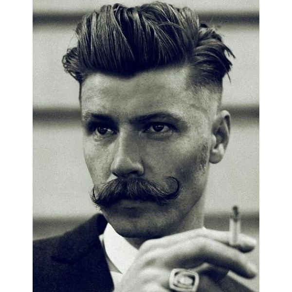 John Dilinger Style Undercut Hairstyle for Men