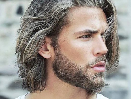 Long Medium Hairstyle with Blonde Lights