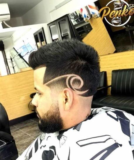 Long Top High Fade Medium length hairstyles for men