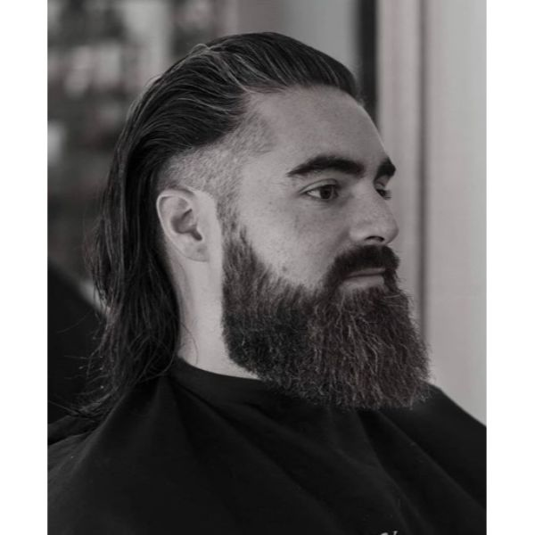 Long Trimmed Top with Undercut Low Fade