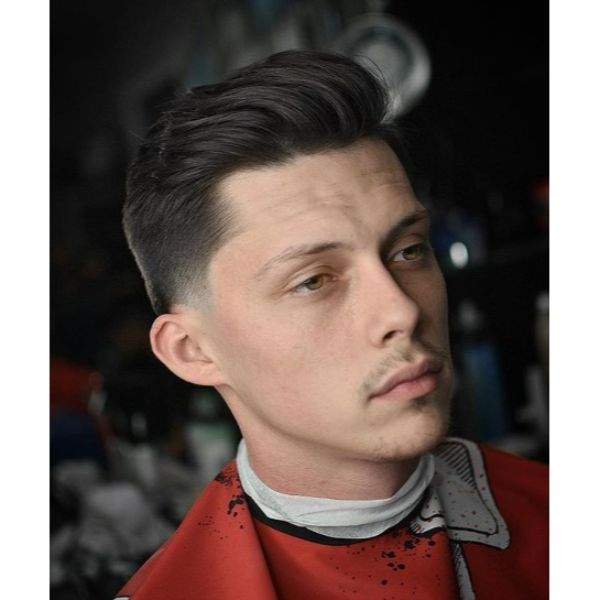Low Taper with Combover Undercut