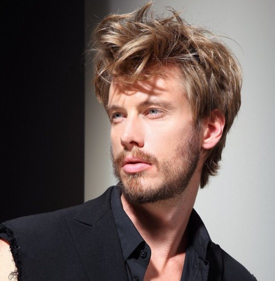 Medium length hairstyles for men with Long Chunky Top