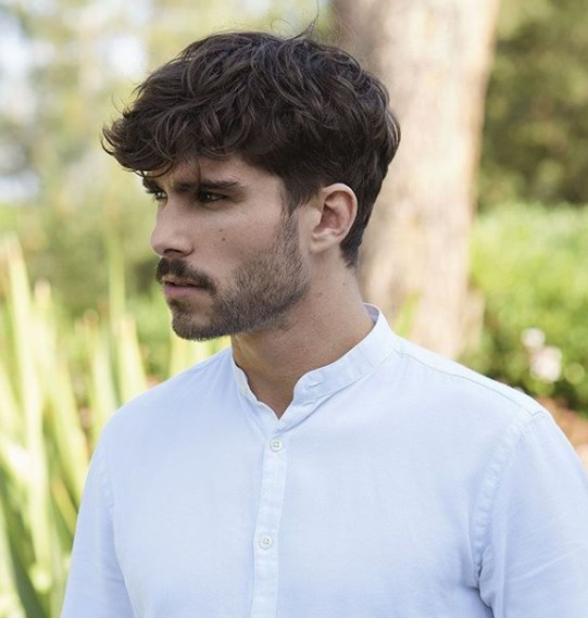 Messy medium length hairstyles for men with Falling Strands