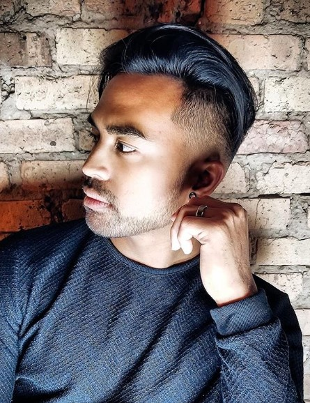 Messy Disconnected Slickback Undercut  Hairstyles For Men