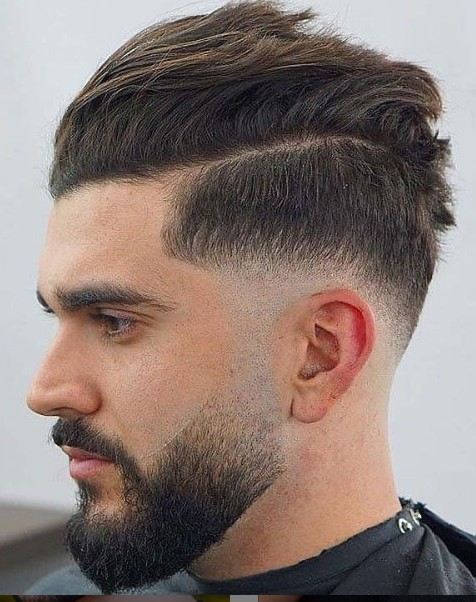 Messy Textured Undercut Hairstyle for Men